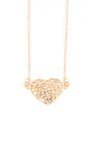 Metal-heart-necklace-goud