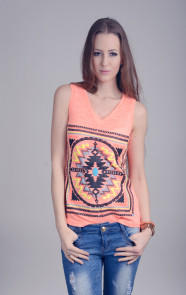Aztec-Coating-Top-Neon-Orange-The-Musthaves