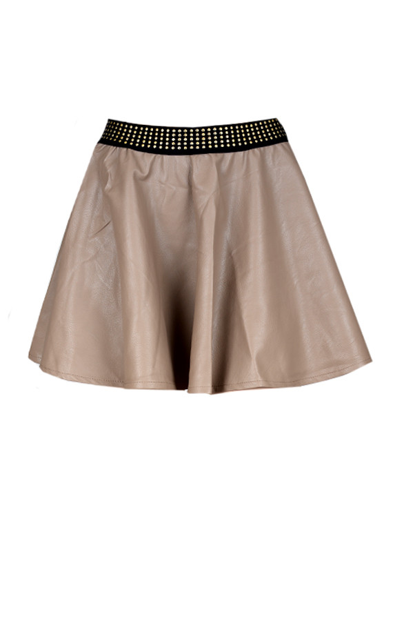 Leather-Skirt-Taupe