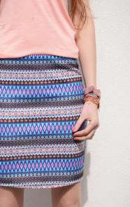 Aztec-Skirt-Blue
