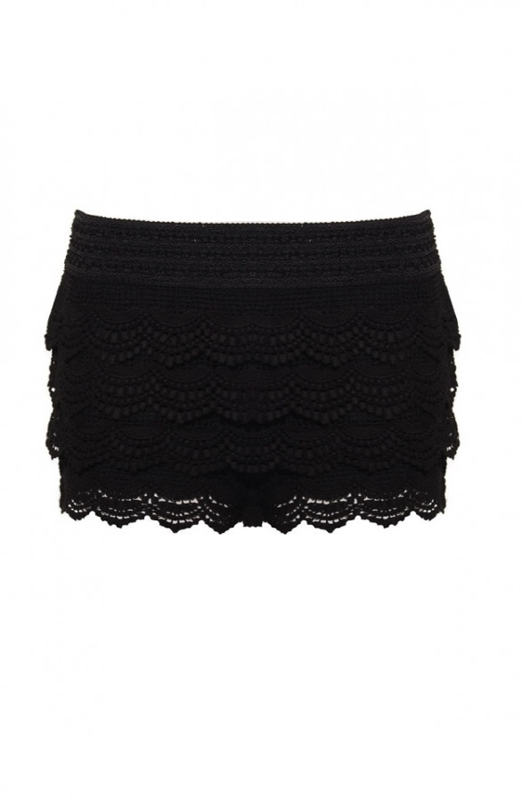 Lace-Short-Black