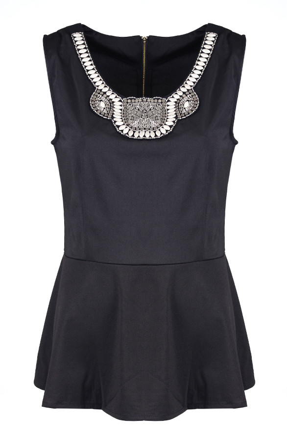 Peplum-Black