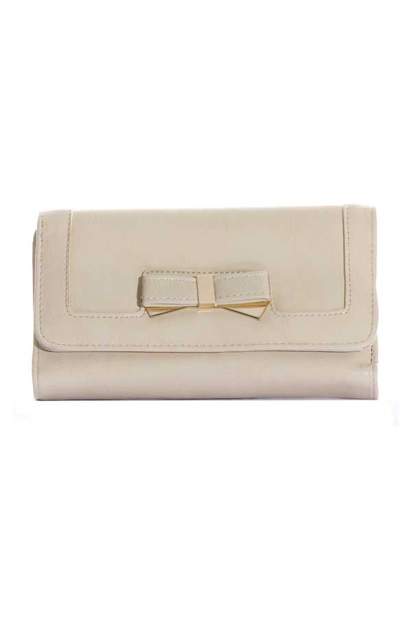 Bow-Wallet-Beige