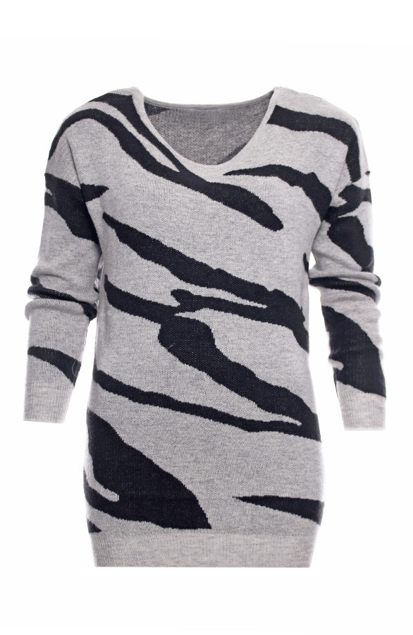Zebra-Sweater-Grey