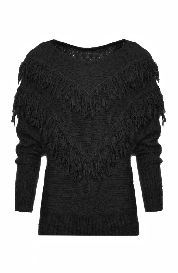 Bohemian-Sweater-Black