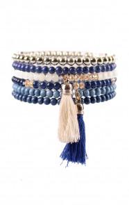 Blue-Tassel-Bracelet-Set