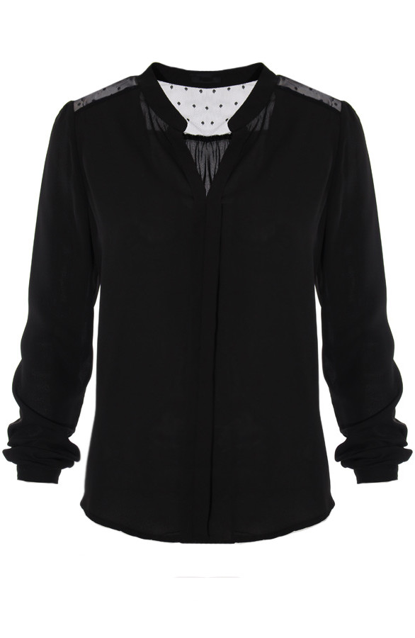 Rockabilly-Blouse-Black