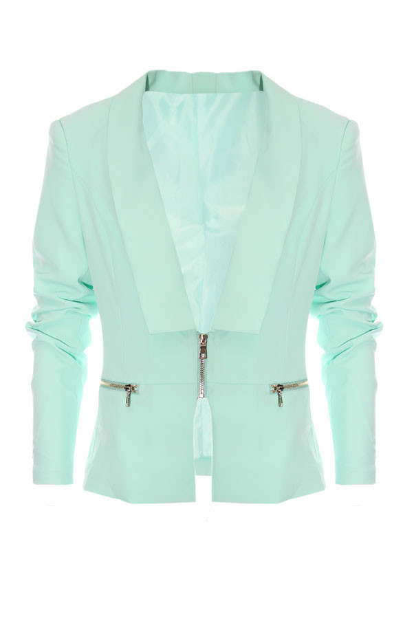 Zipped-Blazer-Mint