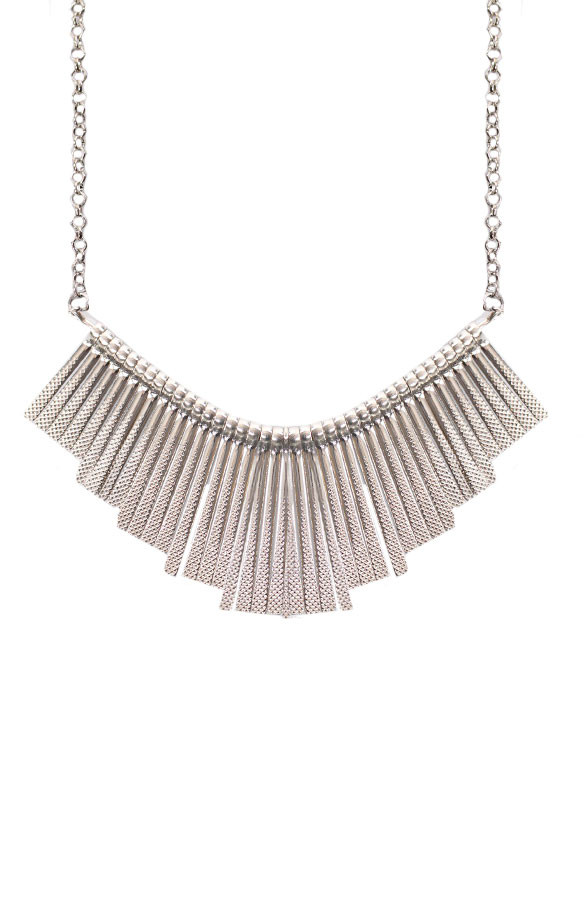 Metal-Necklace-Zilver