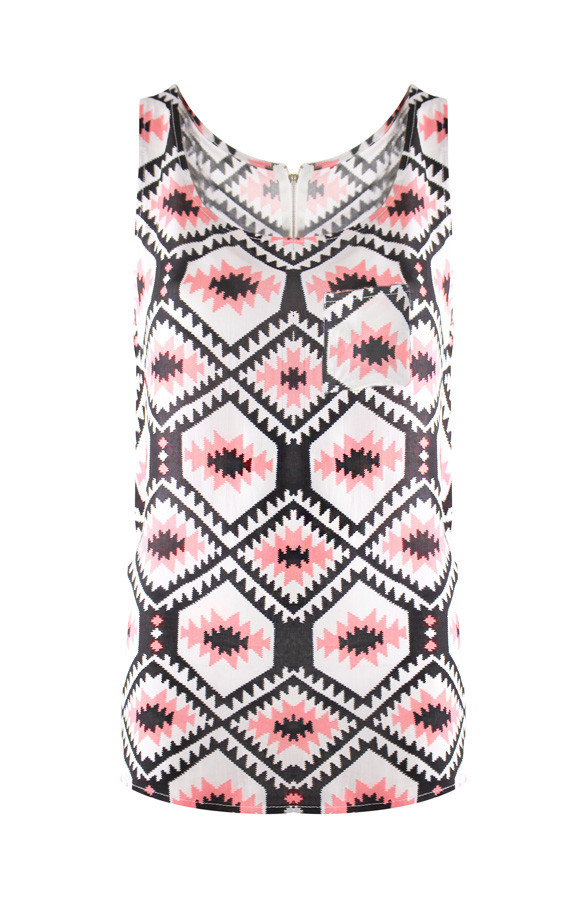 Aztec-Blocking-Top-Pink