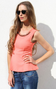 Neon-peplum-top
