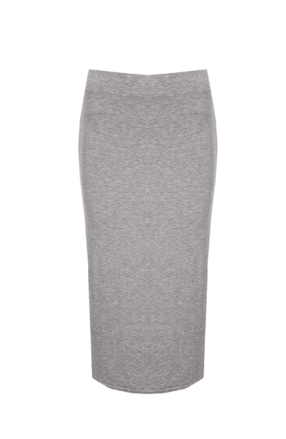 Overknee-Skirt-Grey