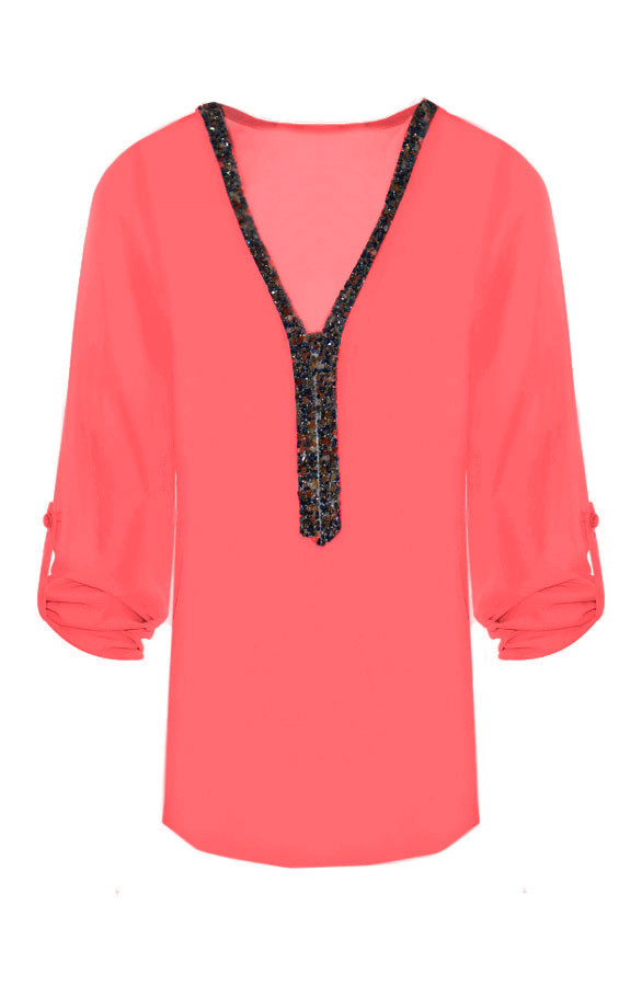 Gemstone-Blouse-Coral