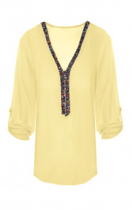 Gemstone-Blouse-Yellow