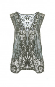 Lace-Gilet-Army