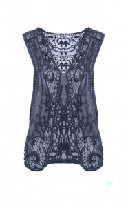 Lace-Gilet-Navy