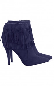 Fringe-Booties-Blue