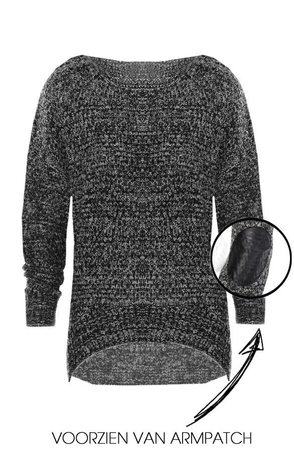 Patched-Sweater-Black