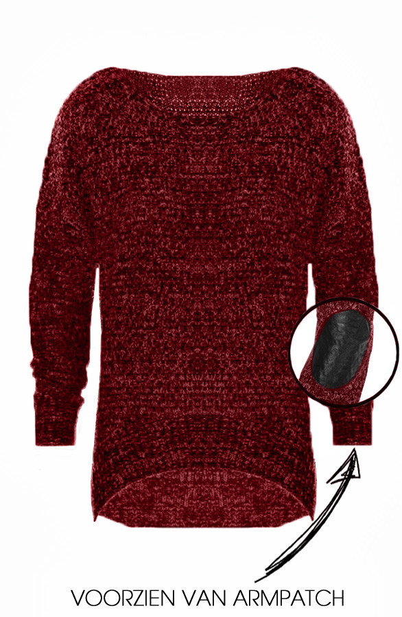 Patched-Sweater-Red