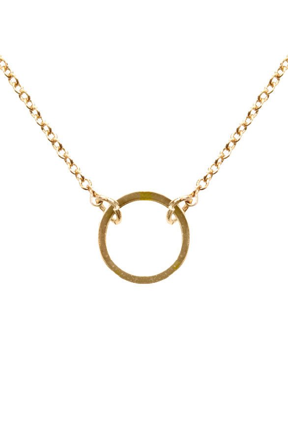 Fine-Necklace-Circle-Gold