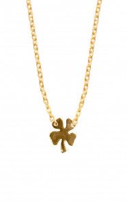 Fine-Necklace-Clover-Gold