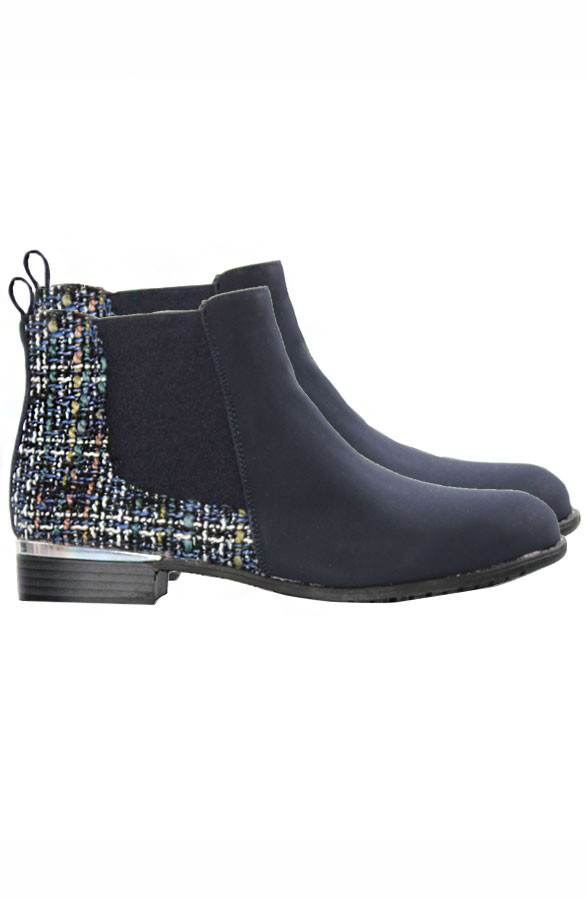 Tweed-Booties-Blue