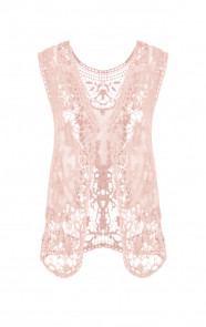 Lace-Gilet-Pink