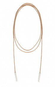 Choker-Ketting-Suede-Taupe