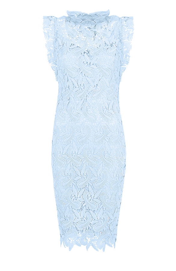 Feminine-Dress-Lace-Ice-Blue