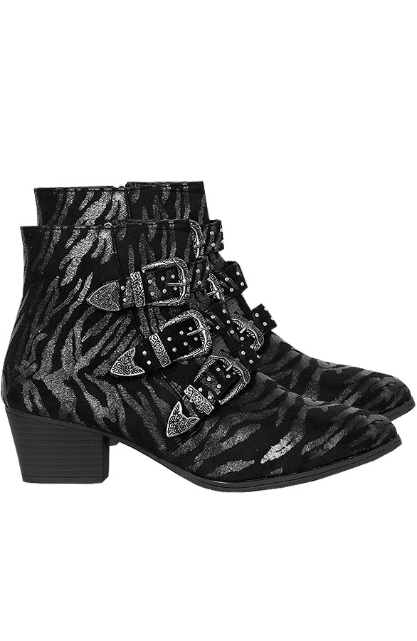 Zebra-Buckle-Boots-Limited