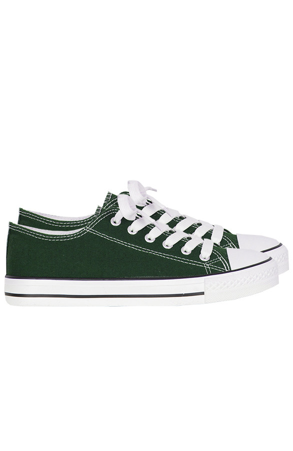 Canvas-Sneakers-Legergroen