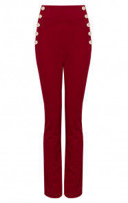 Button-Broek-High-Waisted-Rood