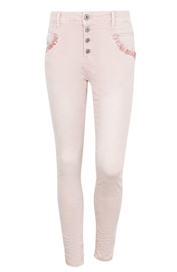 Pailletten-Chino-Pink-Jeans