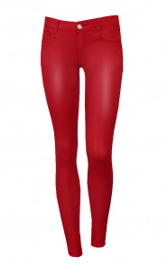 Coating-Jeans-Rood