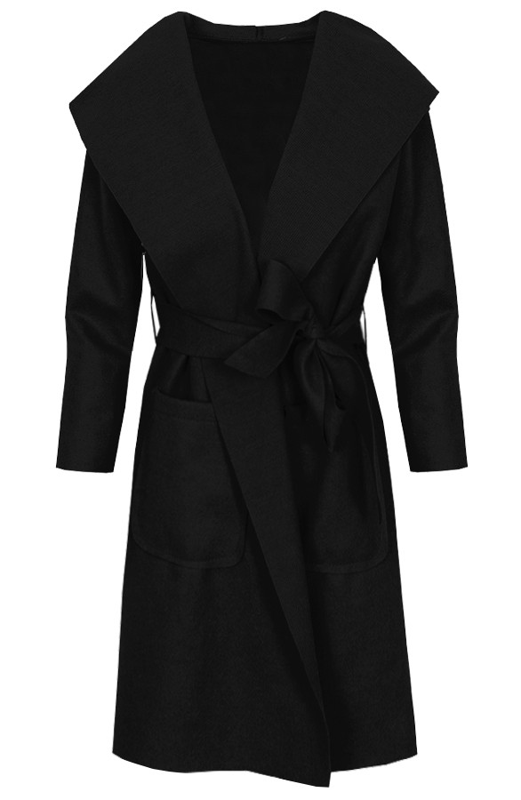 Long-Wanted-Coat-Zwart