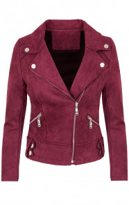 Biker-Jacket-Suede-Bordeaux