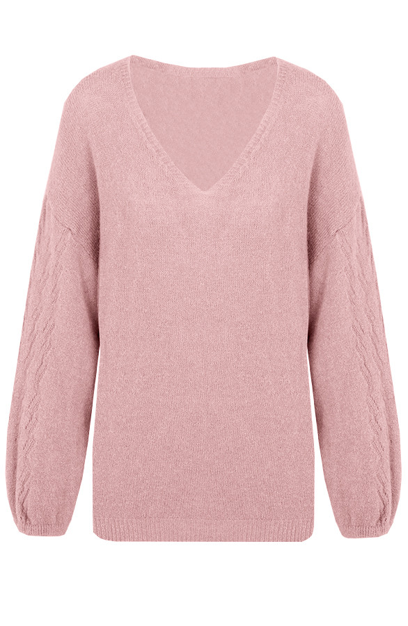 Soft-V-Trui-Wanted-Oud-Roze