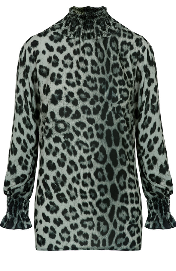 Panter-Oversized-Blouse-Groen