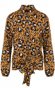 Panter-Strik-Blouse-Oker