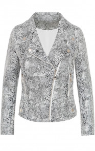 Slangenprint-Biker-Jacket