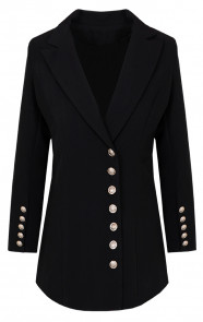 Blazer-Button-Zwart