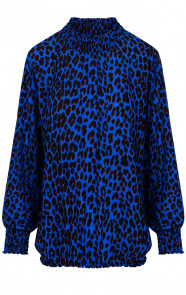 Panter-Col-Blouse-Kobalt