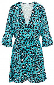 Panter-V-Jurk-Mint