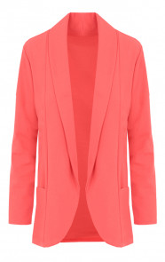 Basic-Blazer-Koraalrood