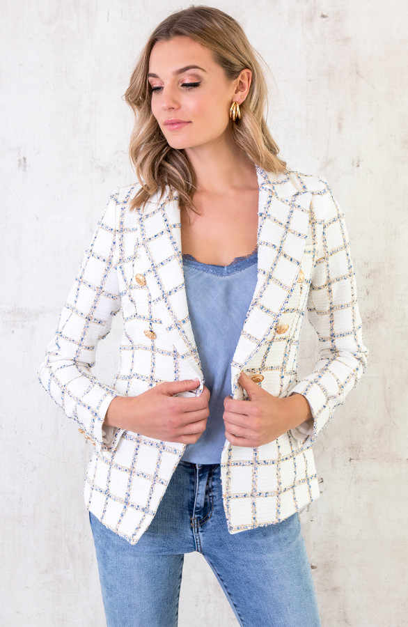 Exclusive Button Blazer Wit