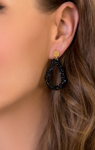Oval-Black-Oorbellen-Small