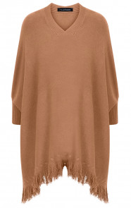 Poncho-Sweater-Camel