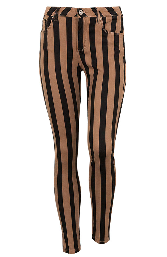 Wanted-Striped-Jeans-Black