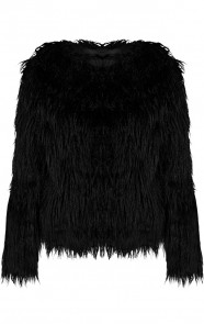 Fake-fur-Jas-Exclusive-Zwart