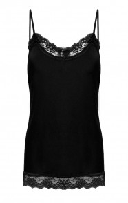 Lace-top-Zwart